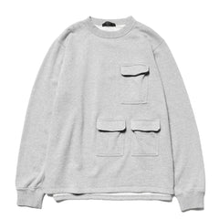 SOPHNET. Multi Pocket Crew Neck Top Gray, Sweaters