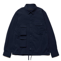 SOPHNET. Multi Pocket Shirt Navy, Tops