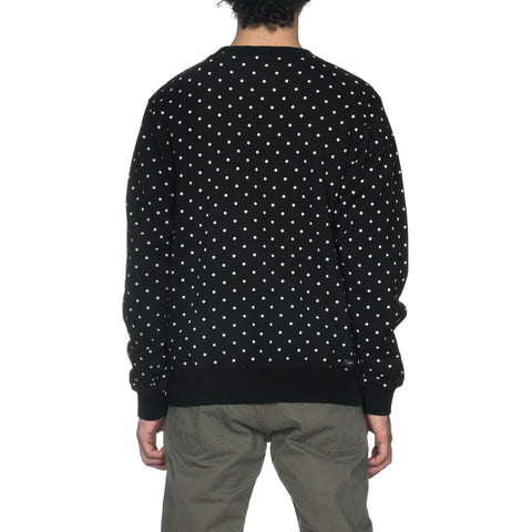 SOPHNET. Polka Dot Crew Neck Sweat Black, Sweaters