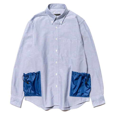 SOPHNET. Side Pocket Big B.D. Shirt Blue, Tops