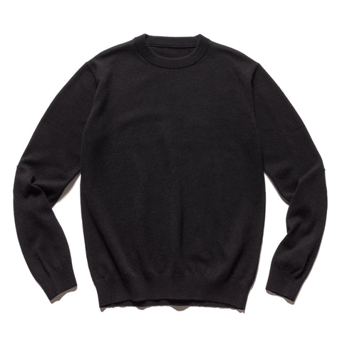 SOPHNET. Star Elbow Patched Crewneck Knit Black, Knits