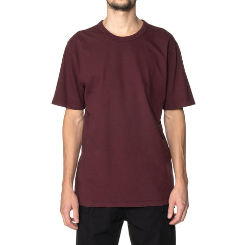 HAVEN S/S T-Shirt - Garment Dyed Jersey Garnet, T-Shirts