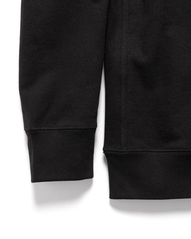 HAVEN Midweight Crewneck - Cotton Terry Black, Sweaters