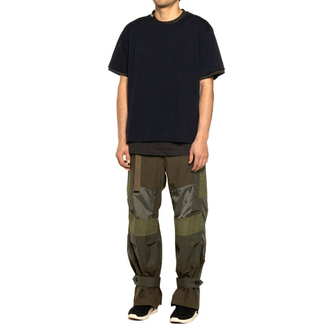 Sacai Cotton T-Shirt Khaki, T-Shirts