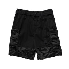 Sacai Fabric Combo Shorts Black, Bottoms