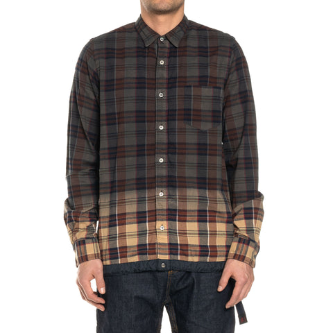 Sacai Madras Check Shirt Gray x Brown, Shirts