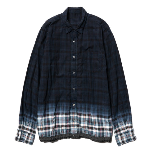 Sacai Madras Check Shirt Navy x Blue, Shirts