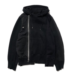 sacai Sponge Sweat Hoodie Black, Sweaters