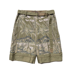 Sacai Sun Surf / Diamond Head Shorts Khaki, Bottoms