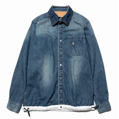 sacai x Dr. Woo Denim Shirt Light Blue, Tops
