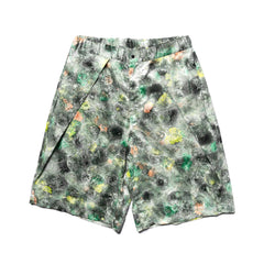 Sasquatchfabrix. Norinagashi Shorts Green Pattern, Bottoms