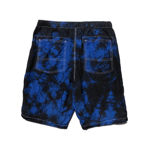 Sasquatchfabrix. Nylon Shorts Black x Blue, Bottoms