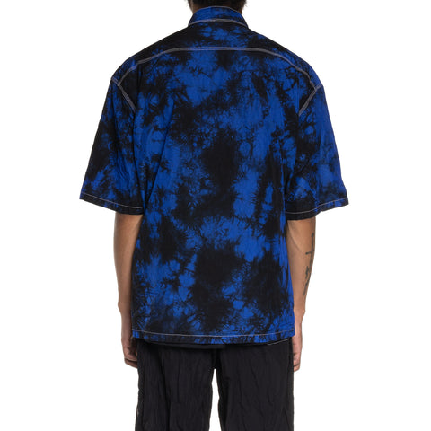 Sasquatchfabrix. Nylon Wa-Neck H/S Shirt Black x Blue, Shirts