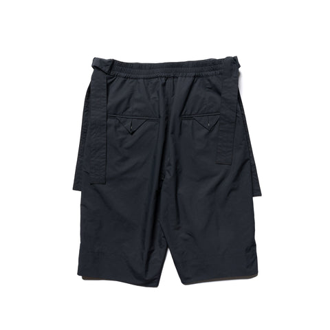 Sasquatchfabrix. Wrap Nylon Shorts Black, Bottoms