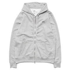 haven Script Logo French Terry Full Zip Hoodie Gray