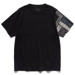 SOPHNET. Bandana Sleeve Paneled Wide Tee Black, T-Shirts