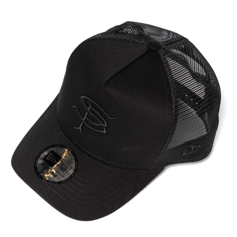 SOPHNET. New Era SP Logo Mesh Cap Black, Headwear
