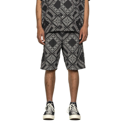 SOPHNET. Pattern Easy Shorts Black, Bottoms