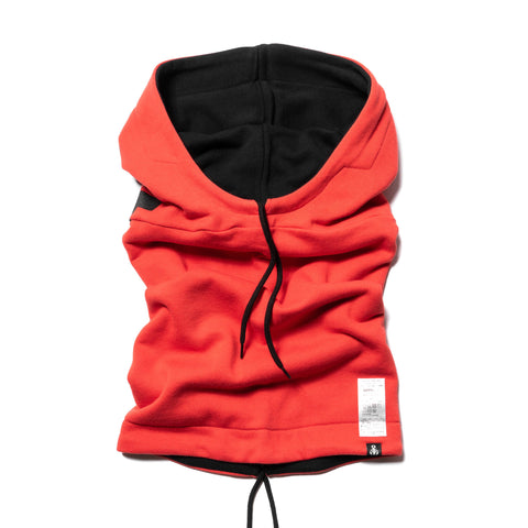 SOPHNET. Reversible Hooded Neck Warmer Orange, Accessories