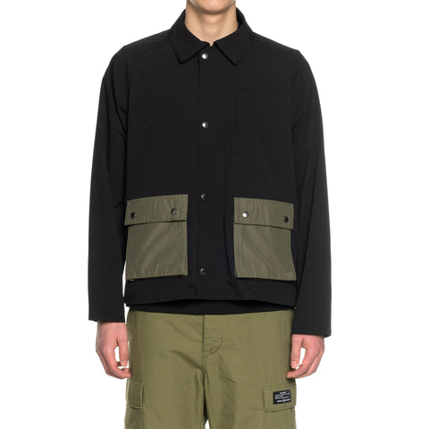 SOPHNET. Solotex Color Pocket Field Blouson Black, Outerwear