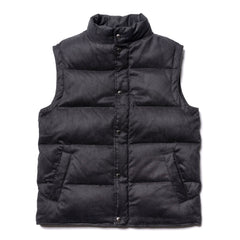 Sophnet. Synthetic Suede Down Vest Black, Outerwear