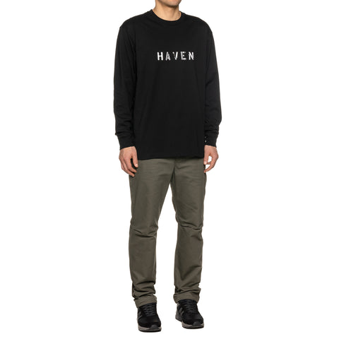 HAVEN / mo'design Stencil Reflective LS T-Shirt - Cotton Jersey Black, T-Shirts