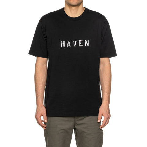 HAVEN / mo'design Stencil Reflective T-Shirt - Cotton Jersey Black, T-Shirts