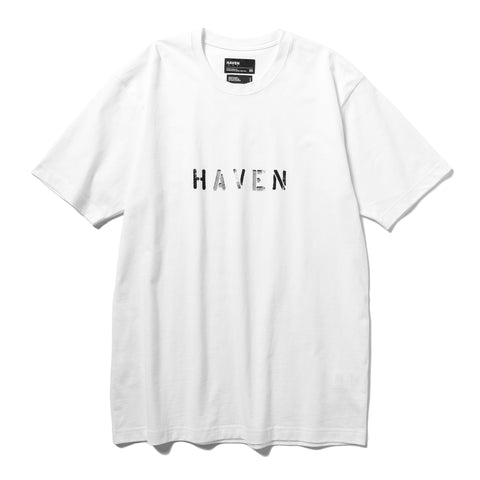 HAVEN / mo'design Stencil Reflective T-Shirt - Cotton Jersey White, T-Shirts