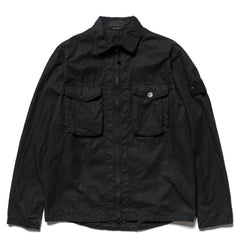 Stone Island 50 Fili Resinata Ghost Piece Dyed Zip Shirt Jacket Black, Jackets