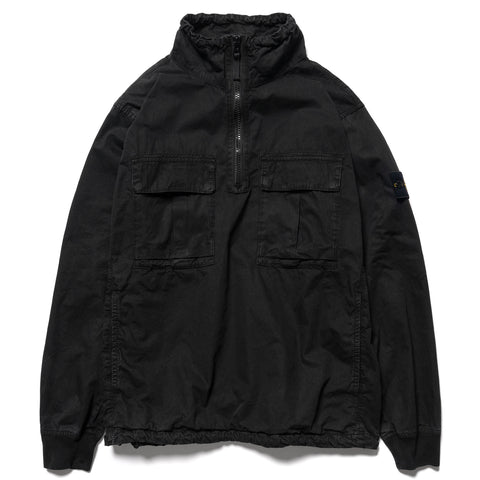 Stone Island Brushed Cotton Canvas Garment Dyed -Old Effect- Stand Collar Anorak Black, Jackets