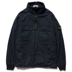 Stone Island Brushed Cotton Canvas Garment Dyed -Old Effect- Stand Collar Anorak Blue, Jackets
