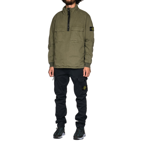 9f415999df87 ... Stone Island Brushed Cotton Canvas Garment Dyed -Old Effect- Stand  Collar Anorak Olive,