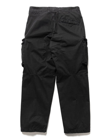 Stone Island Brushed Cotton Canvas 'Old Effect' 2 Pocket Cargo Pant Black, Bottoms