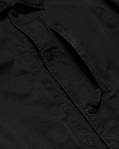 Stone Island Brushed Cotton Canvas 'Old Effect' Field Shirt Jacket Black, Outerwear
