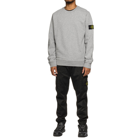 Stone Island Brushed Cotton Fleece Garment Dyed Crewneck Sweater Polvere, Sweaters