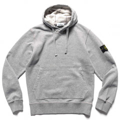 Stone Island Brushed Cotton Fleece Garment Dyed Pullover Sweater Polvere, Sweaters