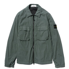 Stone Island Brushed Cotton Nylon Tela Garment Dyed Shirt Jacket Fumo, Outerwear