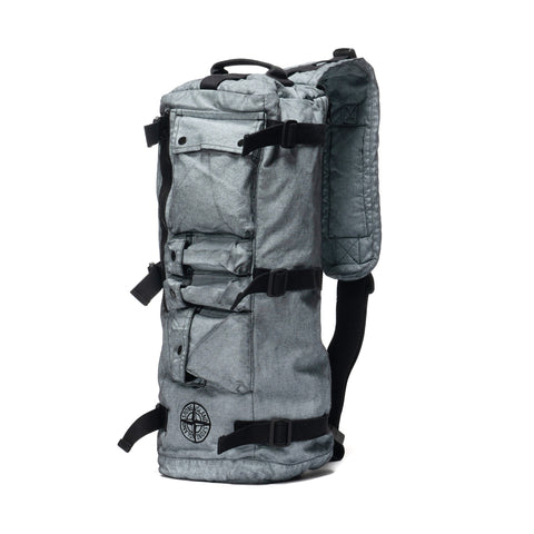 Stone Island Canvas Placcato Garment Dyed Rucksack Black, Bags