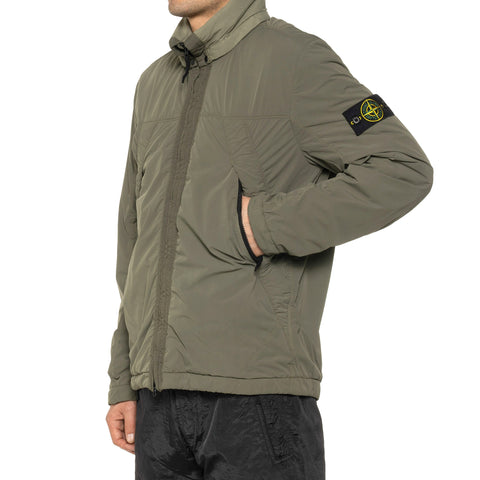 Stone Island Comfort Tech Composite Garment Dyed Stand Collar Jacket Olive, Outerwear