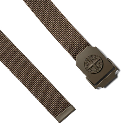 Stone Island Compass Tape Belt Olive, Accessories