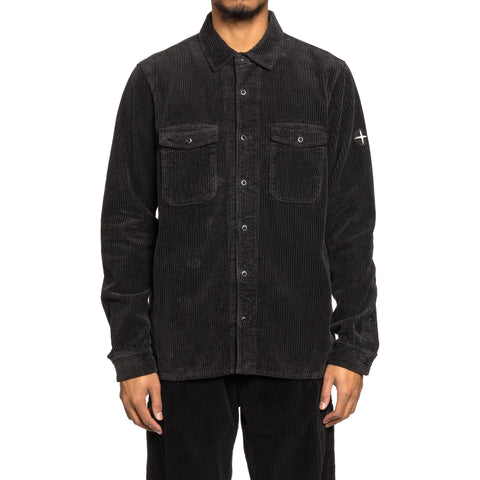 Stone Island Cotton Corduroy Garment Dyed Shirt Antracite, Shirts