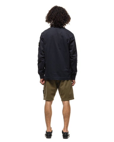 Stone Island Cotton Fleece Garment Dyed 1 Pocket Sweat Short Olive, Bottoms