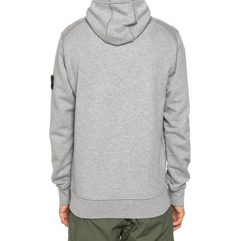 Stone Island Cotton Fleece Garment Dyed Pullover Hoodie Polvere Melange, Sweaters