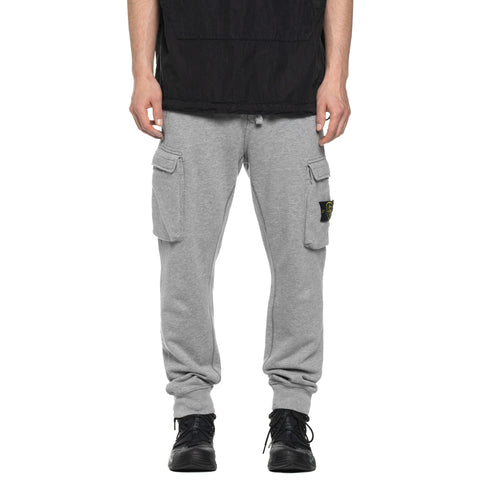 Stone Island Cotton Fleece Garment Dyed Regular Fit Sweat Pant Polvere Melange, Bottoms