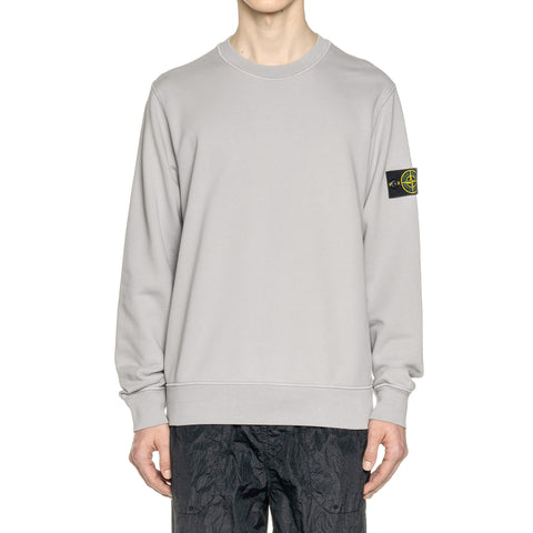 Stone Island Cotton Fleece Garment Dyed Standard Crewneck Polvere, Sweaters