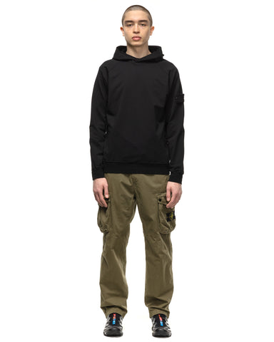 Stone Island Cotton Stretch Fleece Ghost Piece Hooded Sweater Black, Sweaters