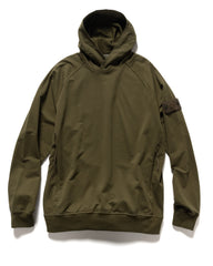 Stone Island Cotton Stretch Fleece Ghost Piece Hooded Sweater Military Green, Sweaters