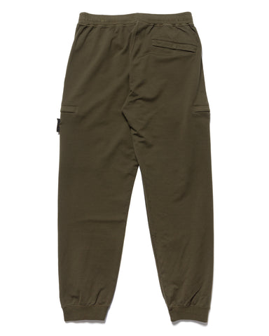 Stone Island Cotton Stretch Fleece Ghost Piece Sweatpant Military Green, Bottoms