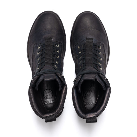 Stone Island Garment Dyed Leather Dyneema Liner Boot Black, Footwear