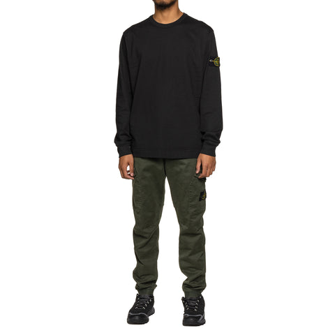 Stone Island Gauzed Cotton Jersey Heavy LS T-Shirt Black, T-Shirts